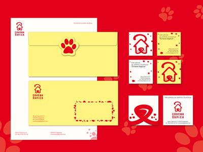 Crvena šapica/The Red Paw visual identity