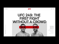 01 - UFC 249 Design Concepts mma ufc ux web user interface ui userinterface layout typography concept webdesign design