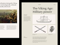 Ancient History 2: Viking Edition editorial vikings layout ui  ux ui design user interface typography modern concept website webdesign design web minimal ui clean