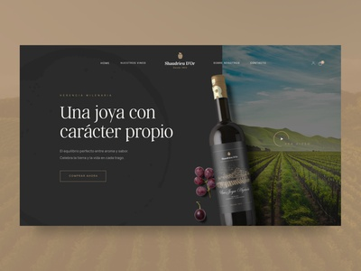 Wine Brand Web Design winery highend luxurious vineyard ecommerce design ecommerce wine branding ui user interface layout modern concept typography clean minimal webdesign