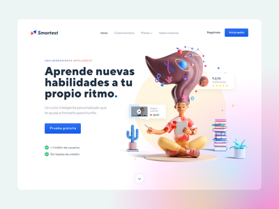 3d Hero Section Design modern user interface layout concept hero section startup clean illustration 3d minimal webdesign