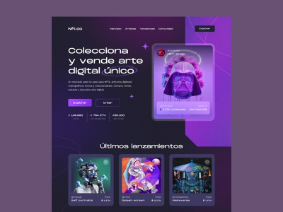 NFT Marketplace art illustration nft marketplace website design layout concept modern webdesign ui