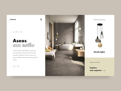Scandinavian spaces design concept interior design interiors typogaphy creative slider ui modern minimal clean