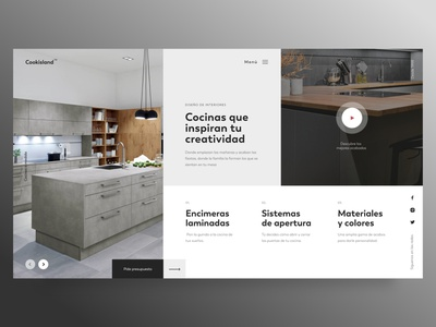 Modern kitchens typography userinterface ui minimal modern kitchen interior design concept clean