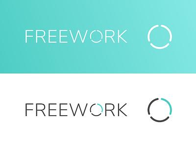 Freework Logo freelancer branding freework logo
