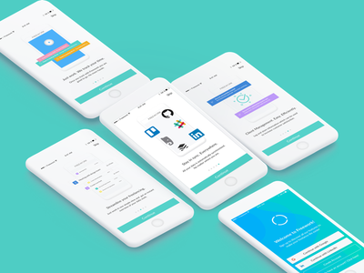 Onboarding Illustrations - Time Tracking timetracking freelancer freelance guide-screen app-intro-graphics walkthrough user-experience-prototype ui signup onboarding material-design