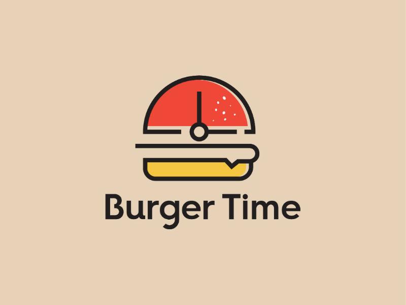 Burger time logo branding burger time