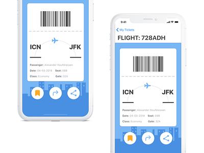 Boarding Pass! 024 dailyui pass boarding concept app
