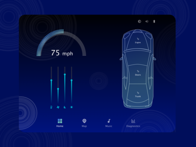 Car Interface UI Design
