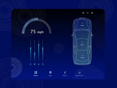 Car Interface UI Design car interface daily ui 034 daily ui daily 100 daily uipractice uidesign car app car dribbble concept