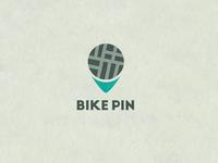 Bike pin logo concept