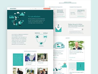 DaSein Campaign Landing Page pandemic design startup door2door landing page dasein web design 2020 transport mobility corona covid19