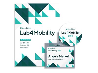 Event Branding 💡 sticker print mobility startup berlin door2door event branding