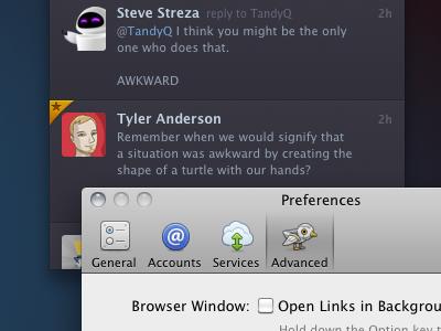 Advanced Prefs twitterrific icon prefs advanced robo-ollie