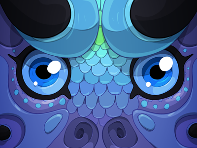 Sputtle character drawing vector illustration creature eyes