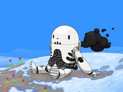 Skullbot takes a break