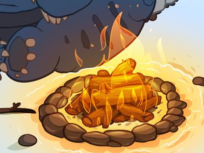 Campfire vector illustration landpdx fire