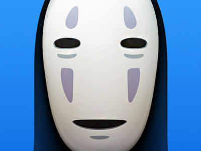 Noh Face icon illustration iconfactory ghibli