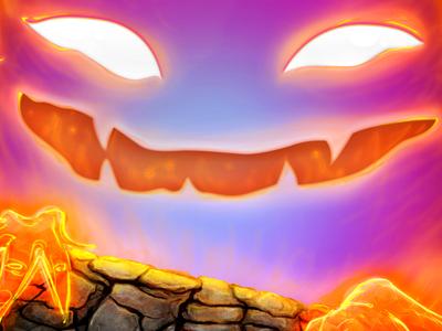 Calcifer Demon illustration iconfactory icon ghibli fire calcifer demon