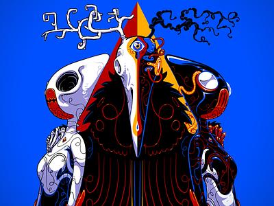 Overlord character poster silkscreen