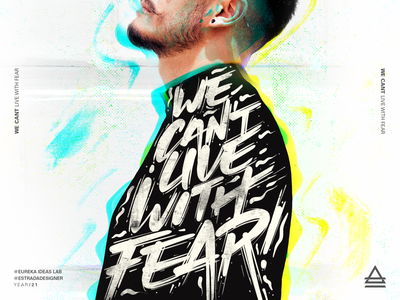Live With Fear minimal typography illustration design