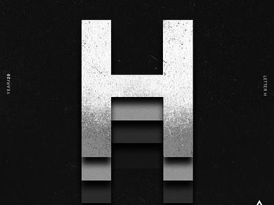 H alphabet 36daysoftype lettering lettering challenge lettering art illustrator typography illustration design