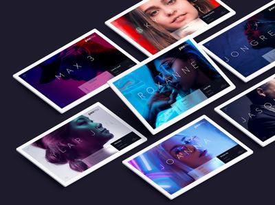 Music Website homepage