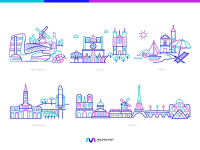 Cities In France Illustrations