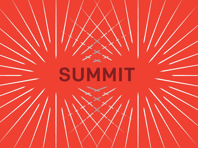 Summit - Where Ideas Collide event dynamic collision type line theme brand conference