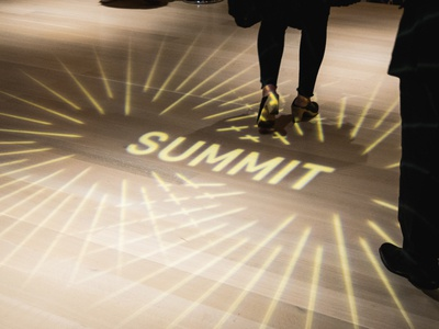 Light Projection at Summit Conference