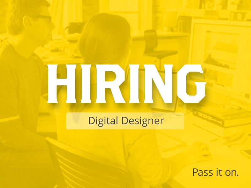 Hiring: Digital Designer animation motion uiux digital job designer jobs hiring