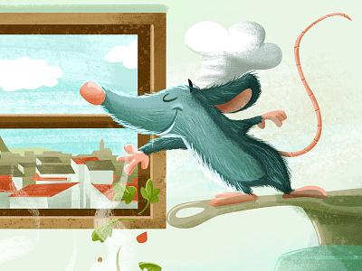 Everyone Can Cook cute cooking food kidlitart digital chef pixar disney ratatouille drawing cartoon illustration