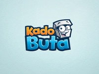 Kadobuta Logo logo brand identity kado gift box surprise character cartoon illustration illustrative fun wacky mascot
