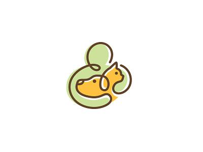 Doodle Mark doodle logo animal vet pet dog cat mark illustrative outline care hug