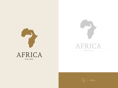 Africa Tours Logo map logo brown logo brown elephant logo elephant africa logo tours africa logodesign corporate branding logo brand