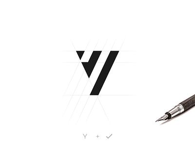 Y Logo flat typography icon branding vector illustration logo brand corporate