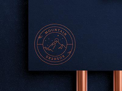 Mountain Rushers Logo mountain businesscard branddesign logodesign illustration vector branding logo brand corporate