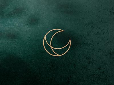 Lunaroo Moon Logomark moon symbol logodesign logomark brandmark vector logo brand corporate