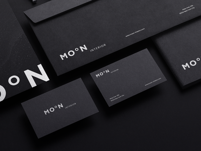 Moon Interior black letterhead business card print typography logo branding brand design corporate