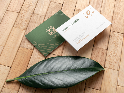 Cosmetics Business Cards green nature leafs cosmetics cosmetic business cards businesscard branding brand corporate