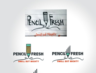 from Sketch to Visual branding logo pencil