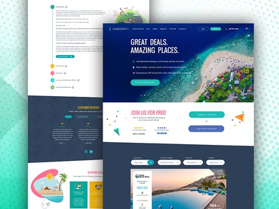 Home And Offer Page By Imtiaz Qazi contest travel website layout web design landing page ui ux designer web designer ux ui