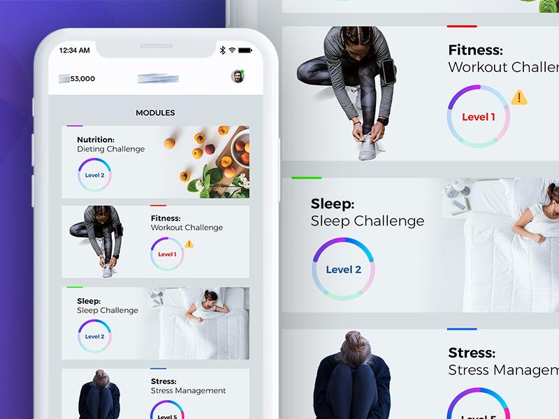 Mobile App For Fitness Company By Imtiaz Qazi Ui Ux Designer