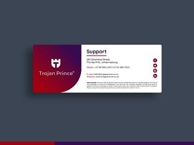 Trojan Prince Mail Signature layout logos logo identity design branding brand identity email email signature