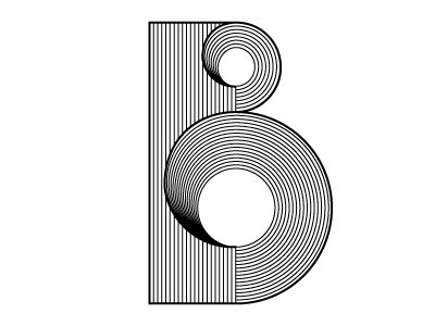 Letter B typography font type letters geometry blend tool illustrator