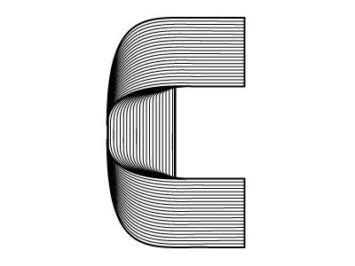 The Letter C typography alphabet illustrator blend tool