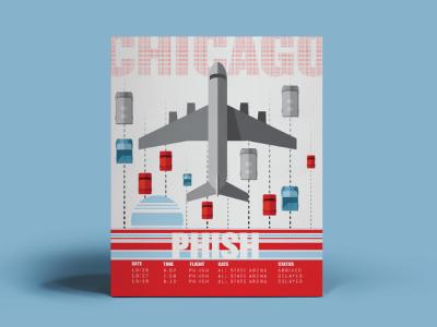Wanna Be Phish Tour Poster airplane design flat poster chicago phish