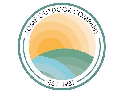 Outdoor Badge circle sunset sun badge blend tool outdoors