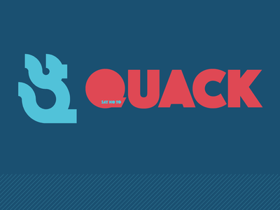 Just Say No vector illustration type illustrator minimal thick type sans serif golden ratio logo red blue knockout thick quack duck