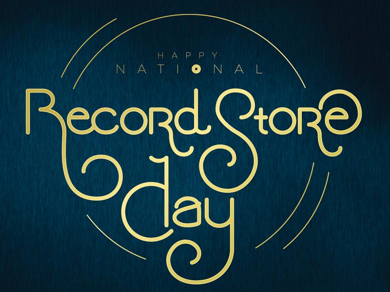 RSD Card typography illustrator type handlettered handlettering retro avantgarde record store day vinyl records rsd greeting card